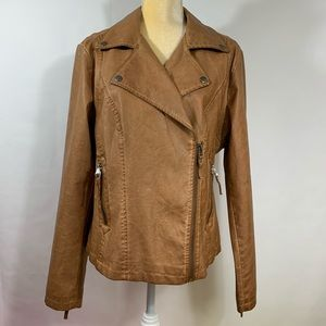 MAX STUDIO Faux Leather Jacket